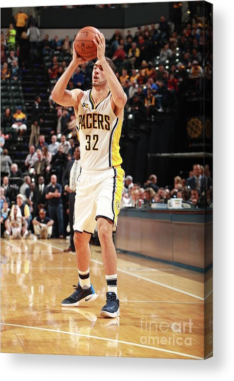 Nba Pro Basketball Acrylic Print featuring the photograph Georges Niang by Jeff Haynes