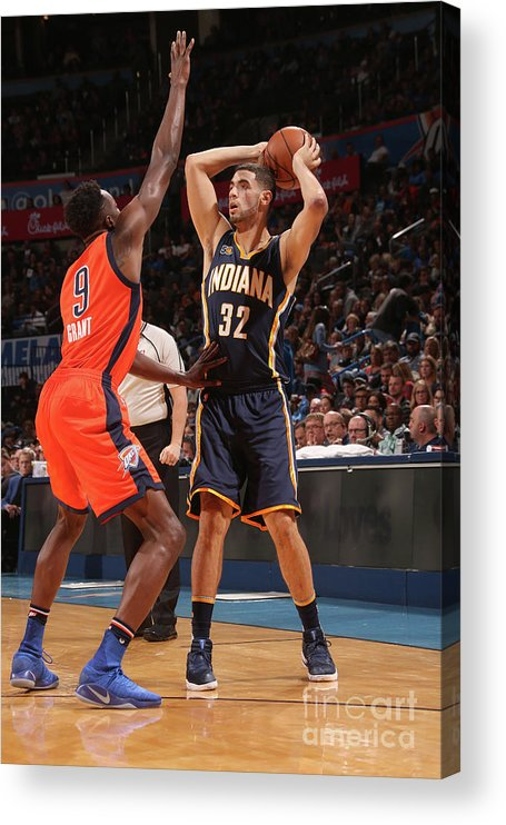 Nba Pro Basketball Acrylic Print featuring the photograph Georges Niang by Layne Murdoch
