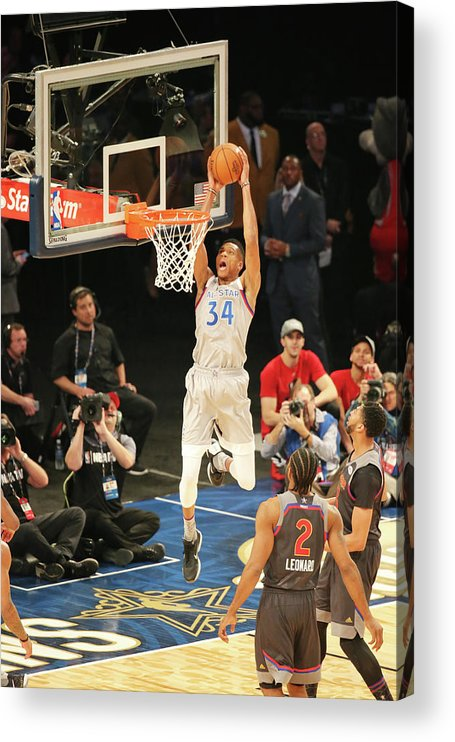 Event Acrylic Print featuring the photograph Giannis Antetokounmpo by Bruce Yeung