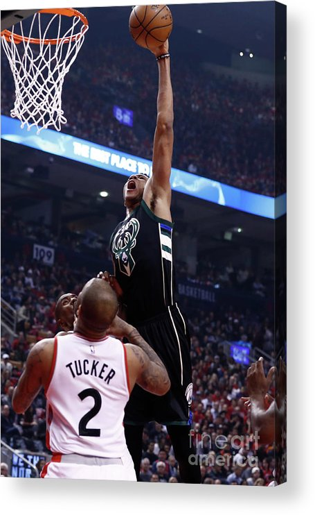 Playoffs Acrylic Print featuring the photograph Giannis Antetokounmpo by Mark Blinch