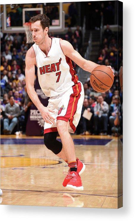 Nba Pro Basketball Acrylic Print featuring the photograph Goran Dragic by Andrew D. Bernstein