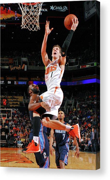 Nba Pro Basketball Acrylic Print featuring the photograph Goran Dragic by Barry Gossage