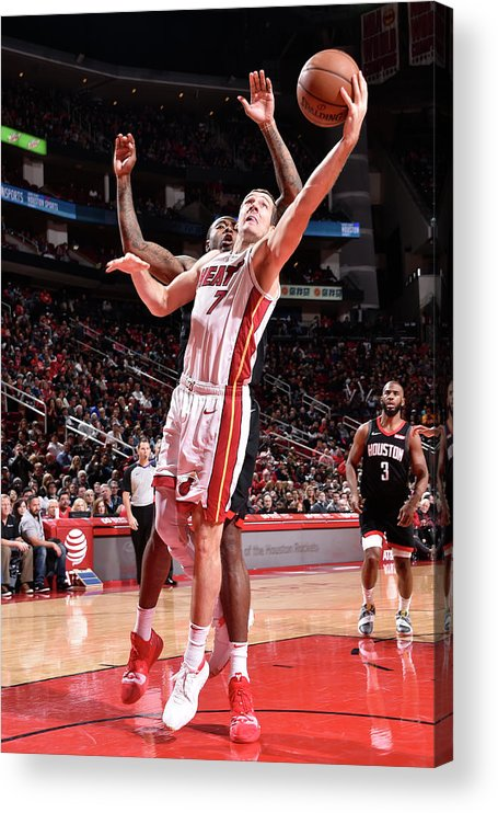 Nba Pro Basketball Acrylic Print featuring the photograph Goran Dragic by Bill Baptist