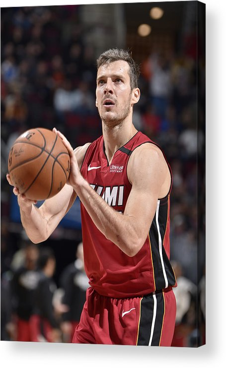 Nba Pro Basketball Acrylic Print featuring the photograph Goran Dragic by David Liam Kyle
