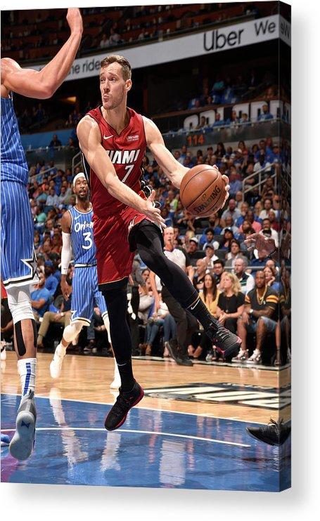 Nba Pro Basketball Acrylic Print featuring the photograph Goran Dragic by Gary Bassing