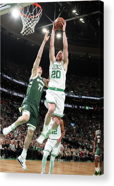 Playoffs Acrylic Print featuring the photograph Gordon Hayward by Nathaniel S. Butler