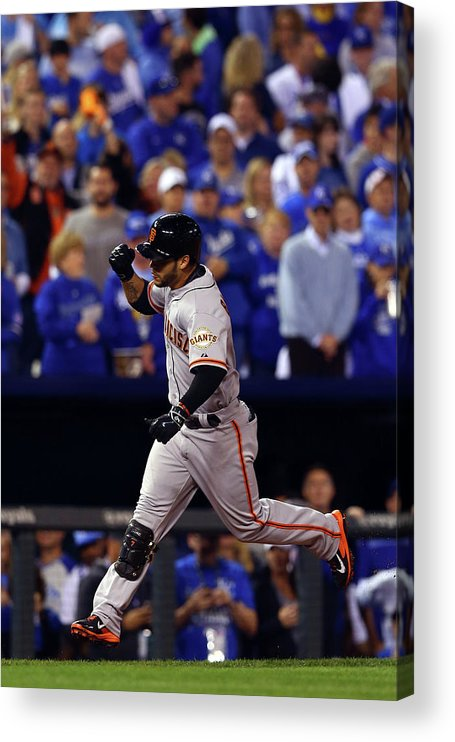 Game Two Acrylic Print featuring the photograph Gregor Blanco by Elsa