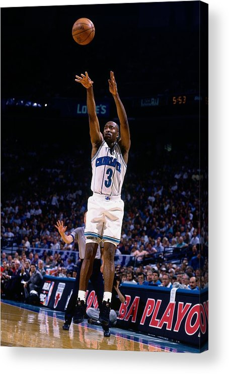 Playoffs Acrylic Print featuring the photograph Hersey Hawkins by Nathaniel S. Butler