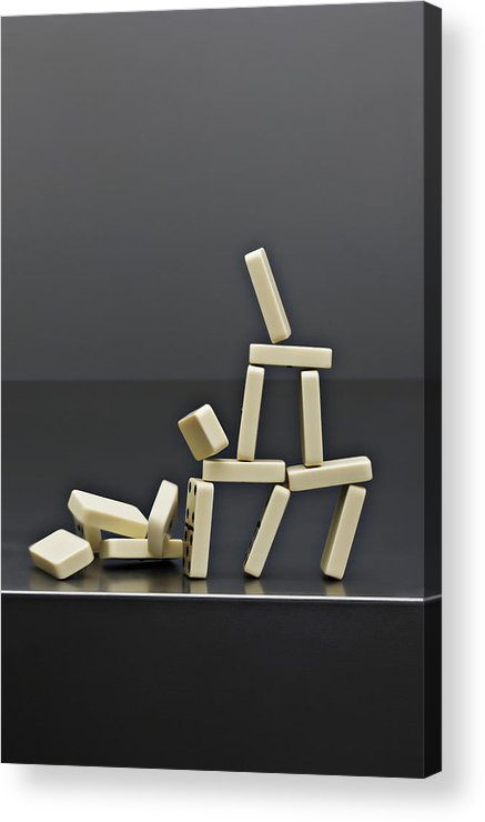 Risk Acrylic Print featuring the photograph House Dominos Falling by David Muir