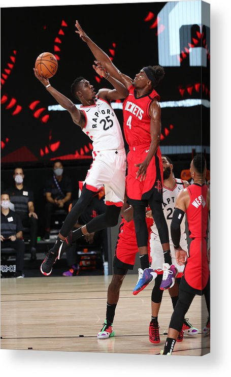 Nba Pro Basketball Acrylic Print featuring the photograph Houston Rockets v Toronto Raptors by Joe Murphy