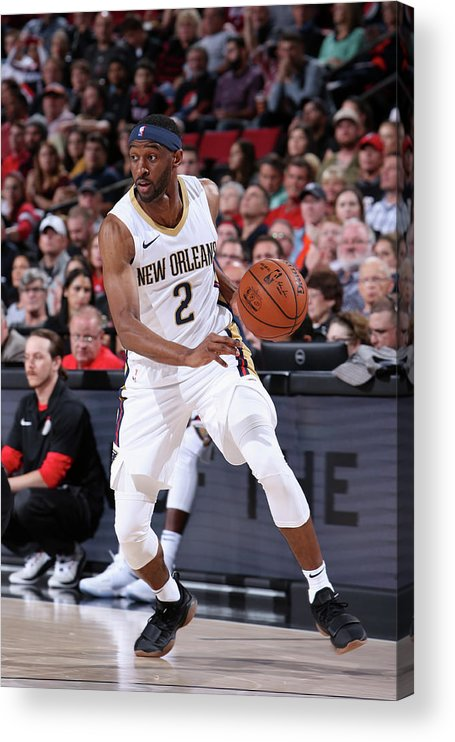 Nba Pro Basketball Acrylic Print featuring the photograph Ian Clark by Sam Forencich