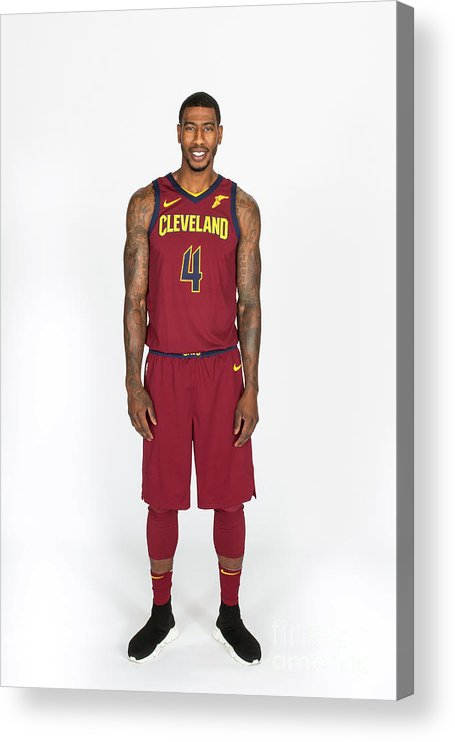 Media Day Acrylic Print featuring the photograph Iman Shumpert by Michael J. Lebrecht Ii