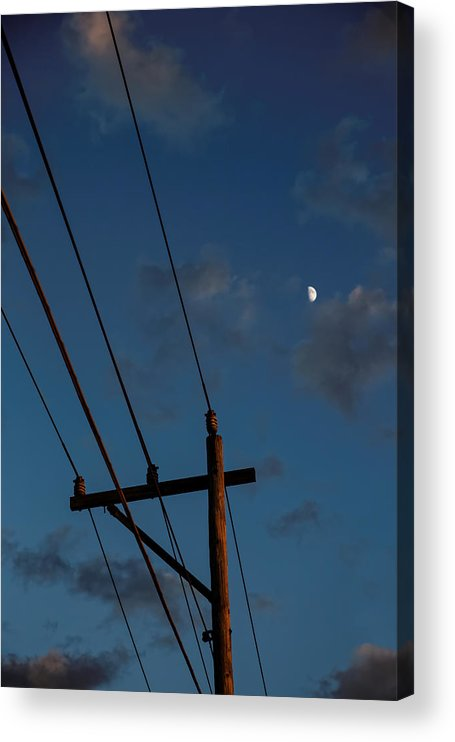 Dramatic Sky Acrylic Print featuring the photograph Into the Night by Straublund Photography