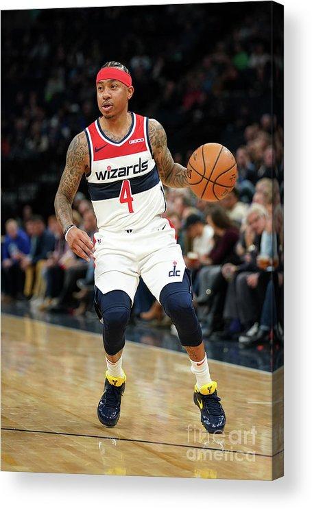 Nba Pro Basketball Acrylic Print featuring the photograph Isaiah Thomas by Jordan Johnson
