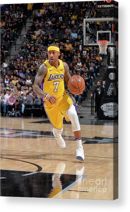 Nba Pro Basketball Acrylic Print featuring the photograph Isaiah Thomas by Mark Sobhani