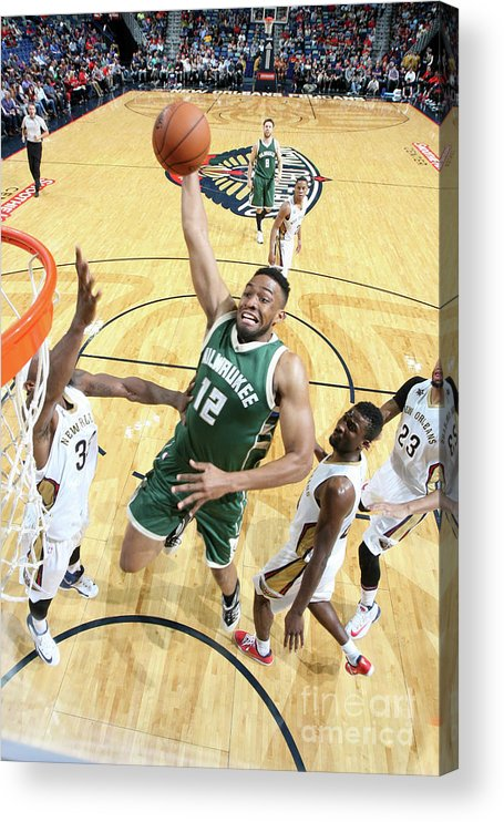 Smoothie King Center Acrylic Print featuring the photograph Jabari Parker by Layne Murdoch