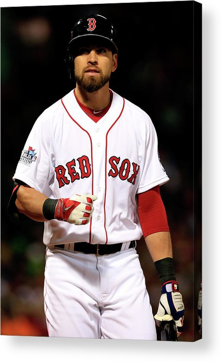 American League Baseball Acrylic Print featuring the photograph Jacoby Ellsbury by Jamie Squire