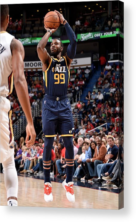 Smoothie King Center Acrylic Print featuring the photograph Jae Crowder by Bill Baptist
