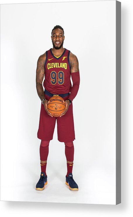 Media Day Acrylic Print featuring the photograph Jae Crowder by Michael J. Lebrecht Ii