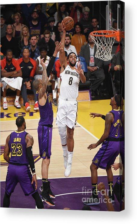 Nba Pro Basketball Acrylic Print featuring the photograph Jahlil Okafor by Adam Pantozzi