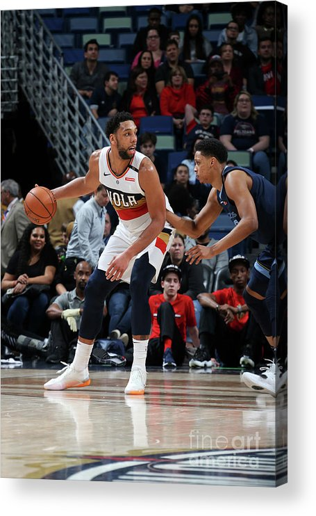 Smoothie King Center Acrylic Print featuring the photograph Jahlil Okafor by Layne Murdoch Jr.