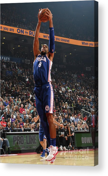 Nba Pro Basketball Acrylic Print featuring the photograph Jahlil Okafor by Ron Turenne