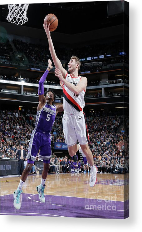 Nba Pro Basketball Acrylic Print featuring the photograph Jake Layman by Rocky Widner
