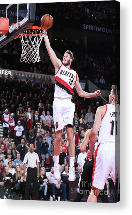 Nba Pro Basketball Acrylic Print featuring the photograph Jake Layman by Sam Forencich