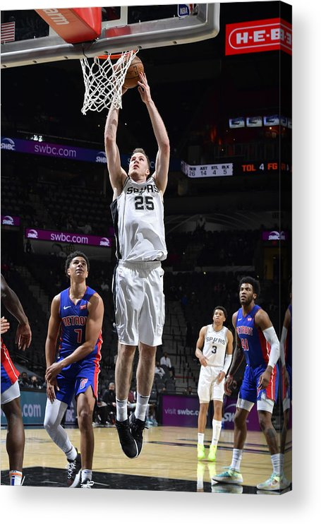 Nba Pro Basketball Acrylic Print featuring the photograph Jakob Poeltl by Logan Riely
