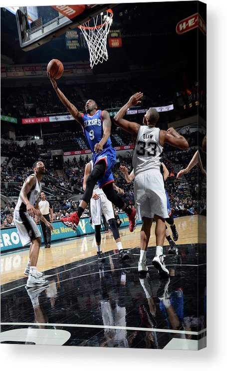 Nba Pro Basketball Acrylic Print featuring the photograph James Anderson by D. Clarke Evans