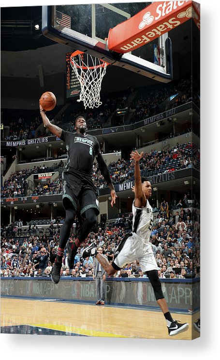 Nba Pro Basketball Acrylic Print featuring the photograph James Ennis by Joe Murphy