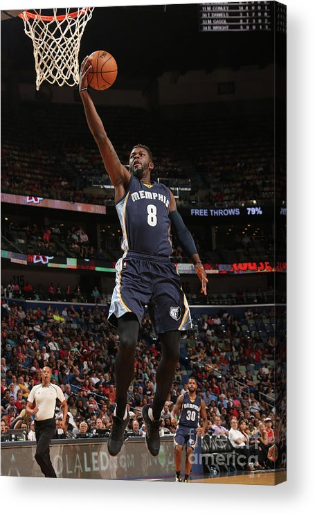 Smoothie King Center Acrylic Print featuring the photograph James Ennis by Layne Murdoch