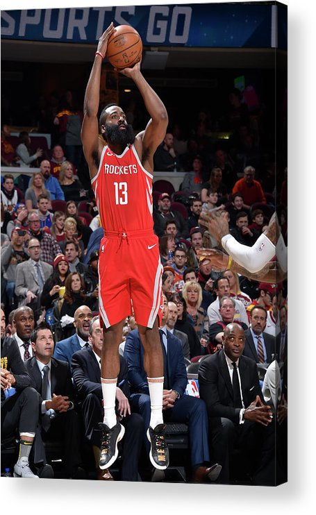 Nba Pro Basketball Acrylic Print featuring the photograph James Harden by David Liam Kyle