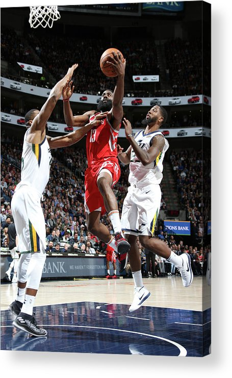 Nba Pro Basketball Acrylic Print featuring the photograph James Harden by Melissa Majchrzak