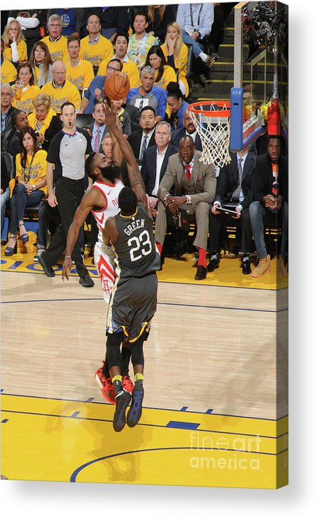 Playoffs Acrylic Print featuring the photograph James Harden by Noah Graham