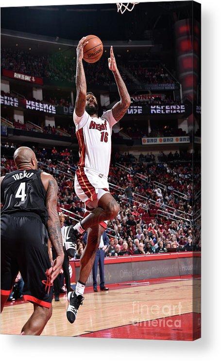 Nba Pro Basketball Acrylic Print featuring the photograph James Johnson by Bill Baptist