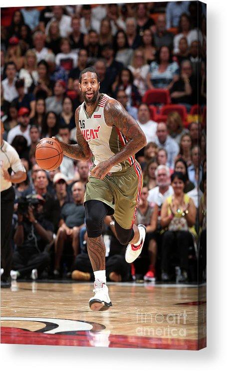 Nba Pro Basketball Acrylic Print featuring the photograph James Johnson by Joe Murphy