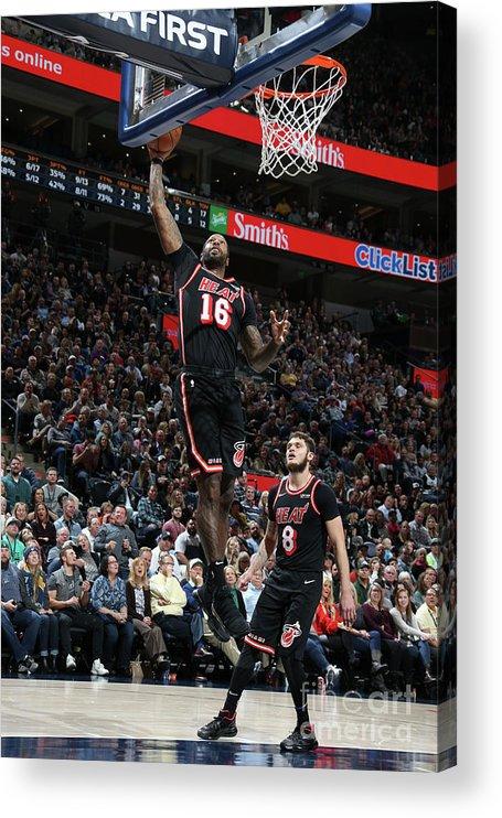 Nba Pro Basketball Acrylic Print featuring the photograph James Johnson by Melissa Majchrzak