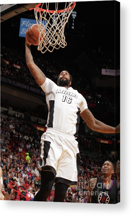 Nba Pro Basketball Acrylic Print featuring the photograph James Johnson by Oscar Baldizon