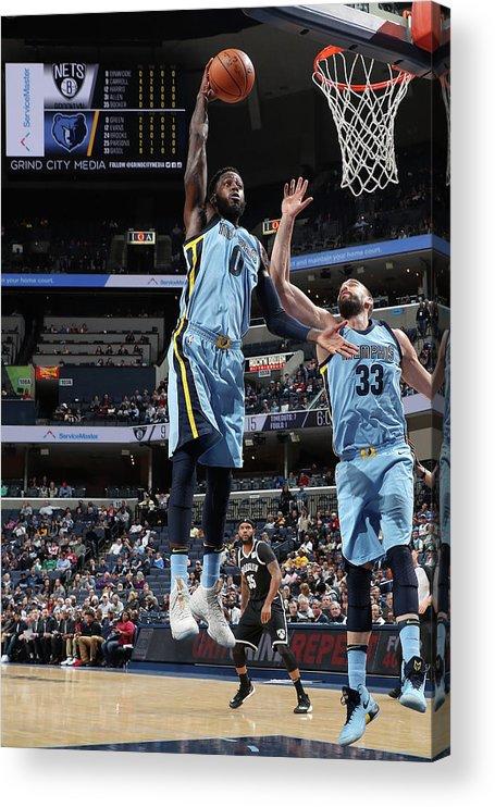 Nba Pro Basketball Acrylic Print featuring the photograph Jamychal Green by Joe Murphy