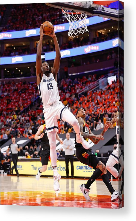 Playoffs Acrylic Print featuring the photograph Jaren Jackson by Jeff Swinger