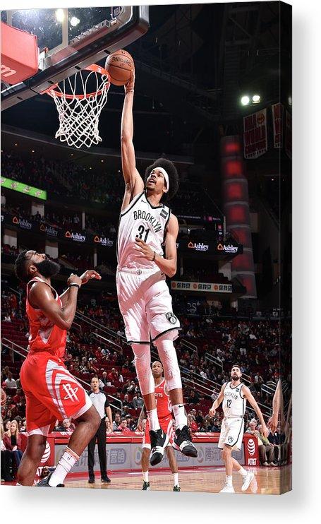 Nba Pro Basketball Acrylic Print featuring the photograph Jarrett Allen by Bill Baptist