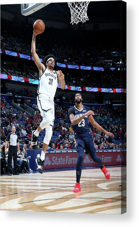 Smoothie King Center Acrylic Print featuring the photograph Jarrett Allen by Layne Murdoch
