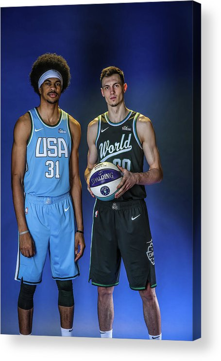 Nba Pro Basketball Acrylic Print featuring the photograph Jarrett Allen by Michael J. Lebrecht Ii