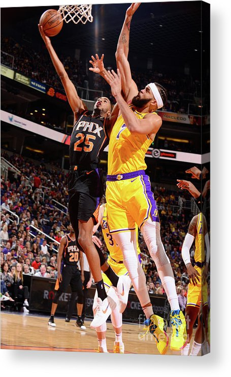 Nba Pro Basketball Acrylic Print featuring the photograph Javale Mcgee by Barry Gossage