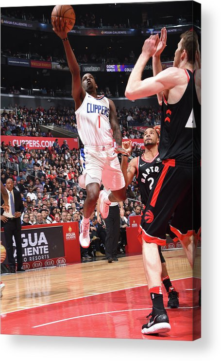 Nba Pro Basketball Acrylic Print featuring the photograph Jawun Evans by Andrew D. Bernstein