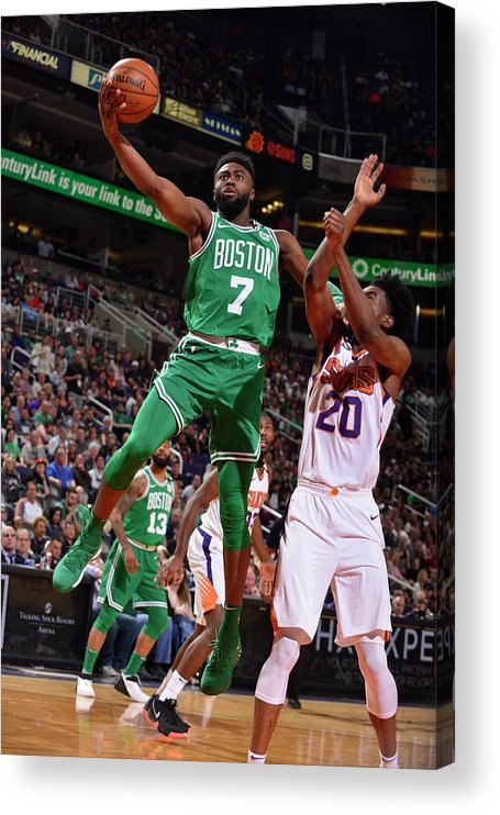 Nba Pro Basketball Acrylic Print featuring the photograph Jaylen Brown by Barry Gossage