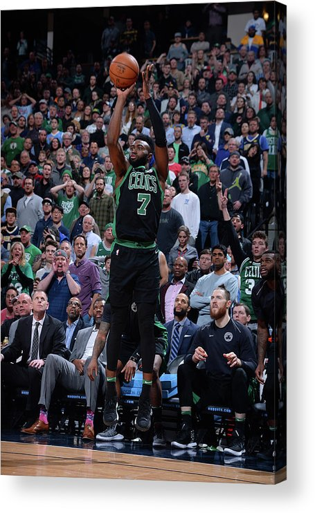 Nba Pro Basketball Acrylic Print featuring the photograph Jaylen Brown by Bart Young