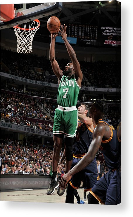 Nba Pro Basketball Acrylic Print featuring the photograph Jaylen Brown by David Liam Kyle