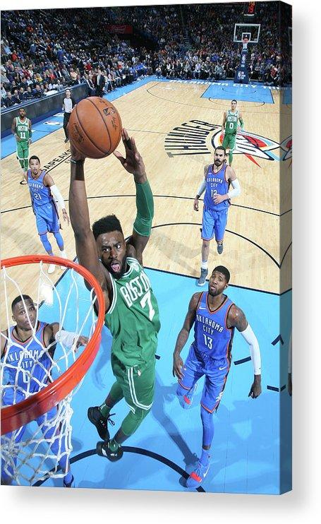 Nba Pro Basketball Acrylic Print featuring the photograph Jaylen Brown by Layne Murdoch